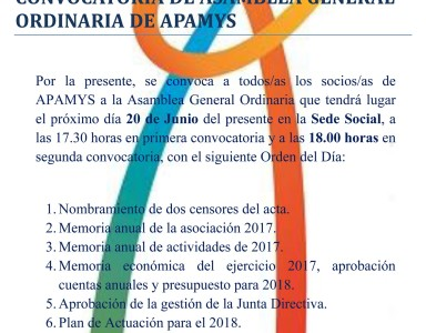 CONVOCATORIA DE ASAMBLEA GENERAL ORDINARIA DE APAMYS