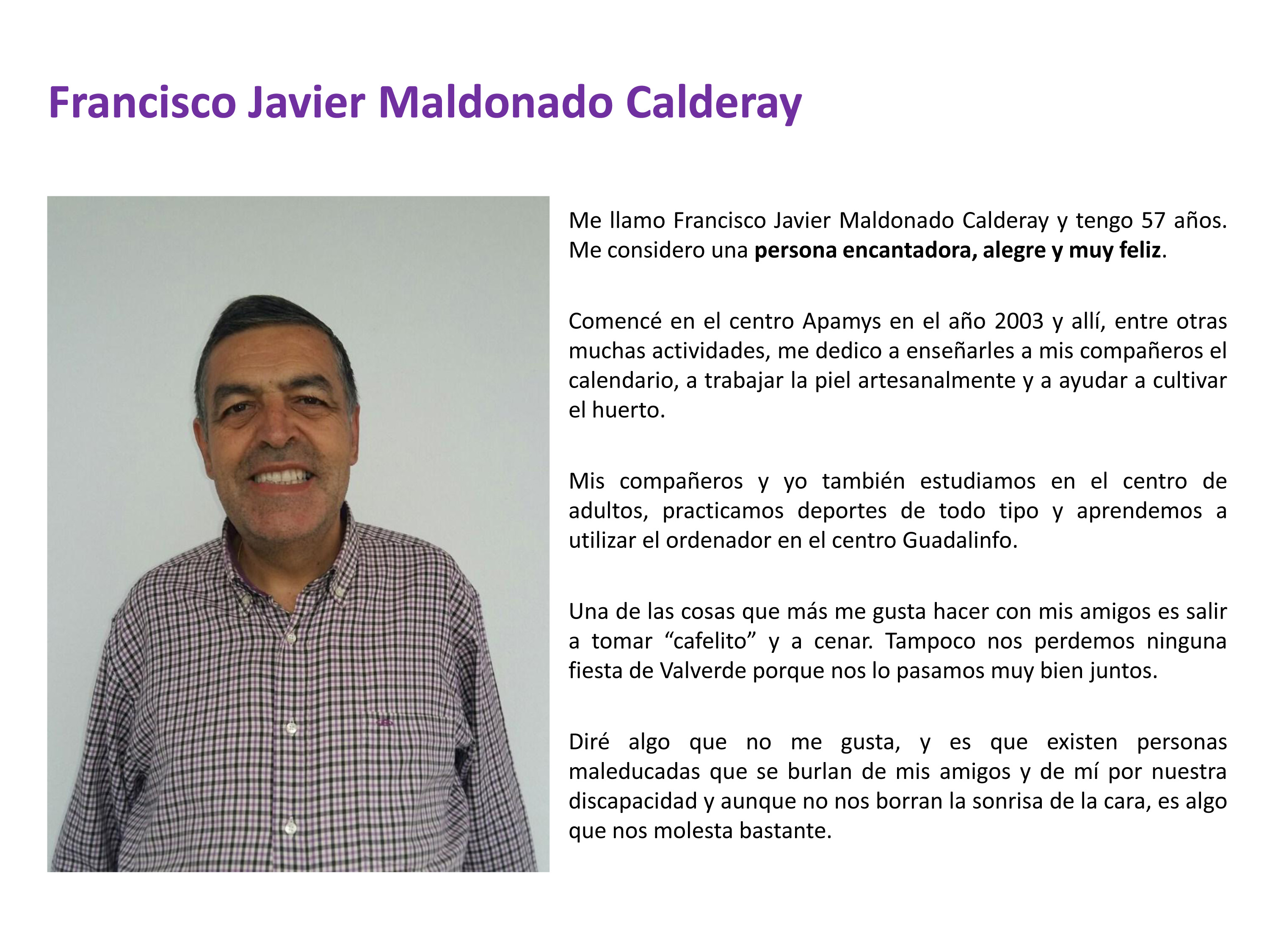 Francisco Javier Maldonado Calderay