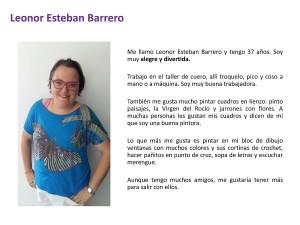 Leonor Esteban Barrero