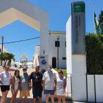 Usuarios de APAMYS  en Punta Umbria durante este fin de semana