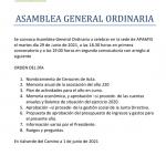 VÍDEO DE NUESTRAS PERSONAS INVITANDO A LA ASAMBLEA GENERAL ORDINARIA DE APAMYS EL 29/06/2021 A LAS 18.30 HORAS